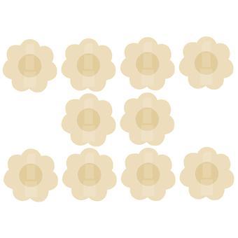 10 X Палочка на сосках Крышки Ромашки Прокладки Наклейки Обнаженная грудь Пасты Обнаженные 5 пар