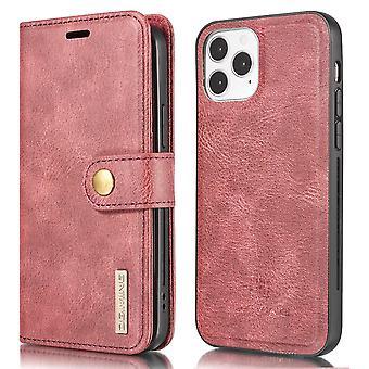 DG.MING iPhone 13 Mini Split Läder Plånboksfodral - Röd