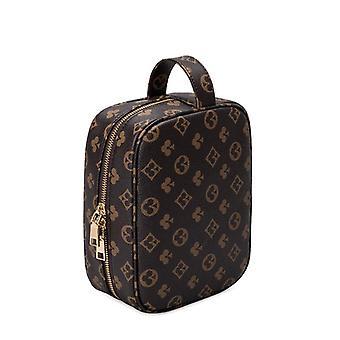 Tasche Große Kapazität Luxus Designer Kosmetik tasche Make-up Fall Organizer Box Leder Handtaschen für