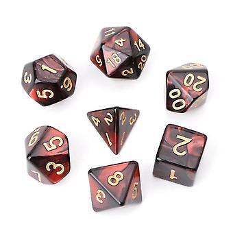 7kpl / aseta akryyli polyhedral noppa Trpg Board Peli