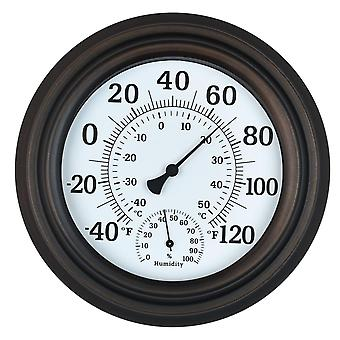 """8"""" Indoor Outdoor Thermometer/hygrometer For Patio, Wall Or Decorative"""