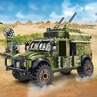 Military Armored Tank Communication Command Vehicle Building Blocks Army Figure Cars