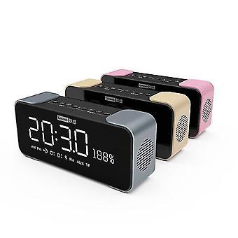 Bt Speaker Radio Alarm Diy Vyzváněcí tón Jedním kliknutím Snooze Bt Call Speaker (Rose Gold)