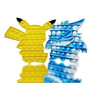 Hywell Popits Juguete Pop-it Fidget barato, juego de poppit de 2 paquetes, adecuado para niños o adultos para resistir el estrés, Pop Pokmon Simple Popit Bubble Poppers
