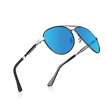 Polariserade blå solglasögon för sport för män