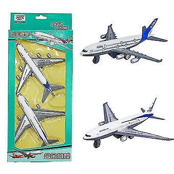 2 Simulare pentru copii Trageți înapoi aliaj avion jucărie Boeing 777 avion de pasageri Model avion