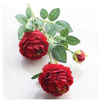 زهرة اصطناعية الزفاف الديكور زهرة وهمية ثلاثة الفاوانيا