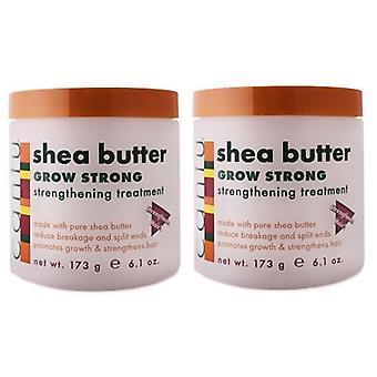 Cantu Shea Butter Grow Strong Strengthening Treatment 173g (2-Pack)