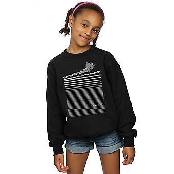 The Wizard Of Oz Girls Wicked Witch Flying Sweatshirt