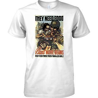 WW2 US militärische Propaganda Poster - sie brauchen Nahrung - T-Shirt für Herren