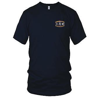 US Navy technische Deck Rating Elektroniker Kriegsführung gestickt Patch - Herren-T-Shirt
