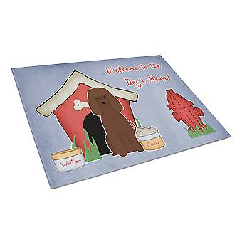 Dog House Collection Irish Water Spaniel Glass Cutting Board Large
