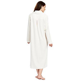 Féraud 3883036-10044 ženy ' s Champagne biele bavlnené župan loungewear kúpeľňové šaty