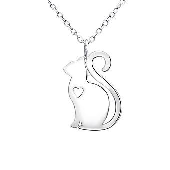 Kat - 925 Sterling Zilver Plain-kettingen - W30877X