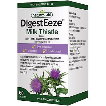 Natures Aid DigestEeze (previously Milk Thistle 150mg), 60 Tablets