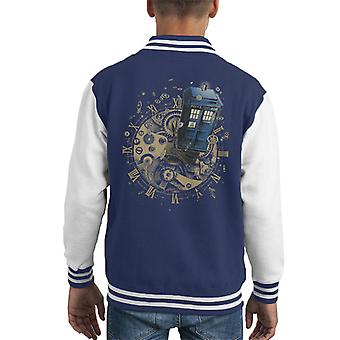 Doctor Who Watch The Time Kid's Varsity Jacket