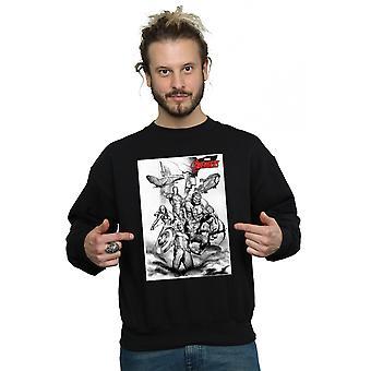 Marvel Men's Avengers Assemble Team Sketch Sweatshirt