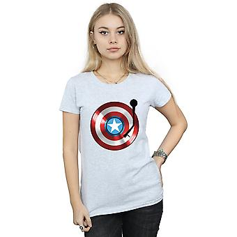 Marvel Women's Captain America Turntable T-Shirt