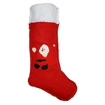 Christmas Shop Large Felt Santa Christmas Stocking