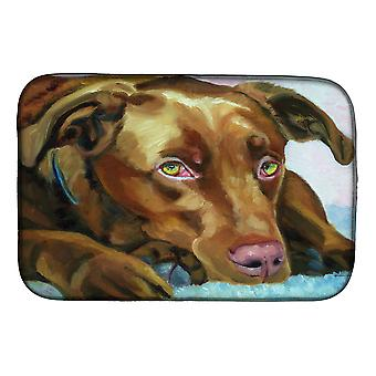 Carolines Treasures  7420DDM Chocolate Labrador Waiting Dish Drying Mat