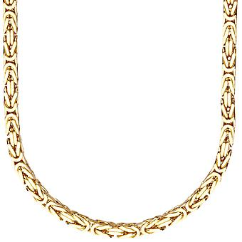 Sterling 925 Silver King chain - DOTTE 4x4mm gold