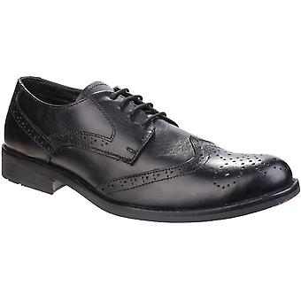 Fleet & Foster Mens Tom Lace Up Leather Brogue Oxford Formal Shoes