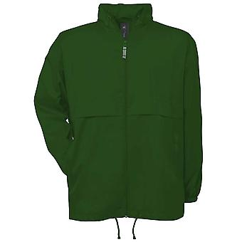 B&C Mens Air Windbreaker waterproof foldaway lined jacket