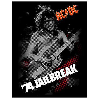 AC/DC Back Patch 74 Jailbreak Distressed Official New Black Woven (36cm x 29cm)