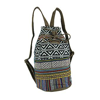 Tribal stribe Boho trekanter Bucket rygsæk