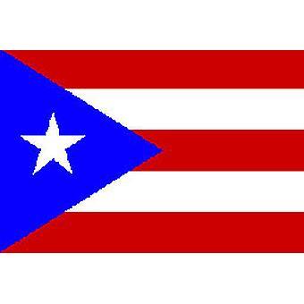 Puerto Ricon lippu 5 jalkaa x 3 ft jossa ripustamista varten