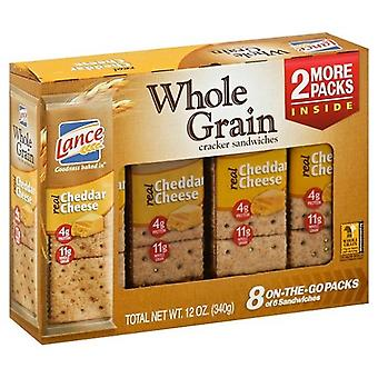 Lance Whole Grain Cheddar Cheese Sandwich Crackers