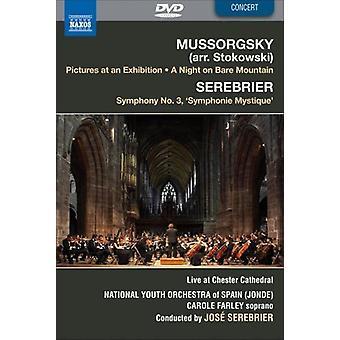 Musorgskij: Quadri di un'esposizione; una notte sul Monte Calvo; Serebrier: Sinfonia n. 3 [DVD Video] [DVD] Stati Uniti importare