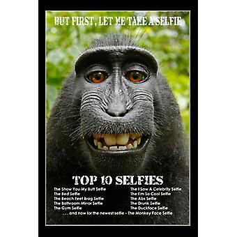 Monkey Selfie Poster Print