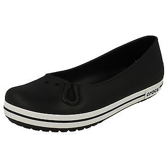 Ladies Crocs platta Ballerina Crocband platt kvinnor