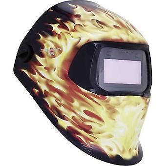 SpeedGlas 100V الحريق H751220 لحام قبعة الثابت الأسود، لهب EN 379، EN 166، EN 175، EN 169