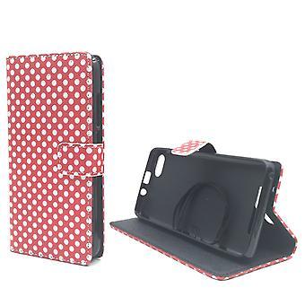 Mobile phone case pochette pour mobile WIKO Lenny 3 polka dot rouge
