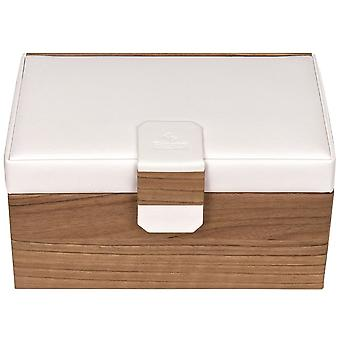 Sacher sieraden geval sieraden doos Scandinavische stijl wit hout look kasteel spiegel