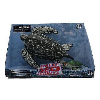 Deep Sea World 2 Pack adulto y bebé, tortuga verde