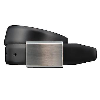 SAKLANI & FRIESE belts men's belts leather belt black 3400