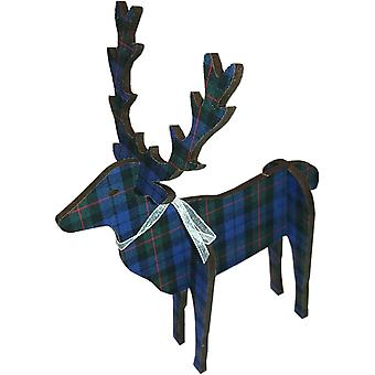 Stag Standing 3D Large 18cm Glen Check