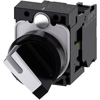シーメンスシリウスACT 3SU1100-2BF60-1BA0ノブフロントリング(PVC)ブラック、ホワイト1 x 90°1 PC