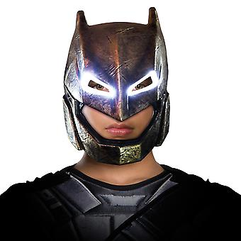 Armored Batman v Superman Dawn of Justice Superhero Mens Costume Light-Up Mask