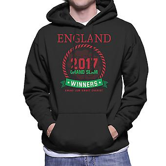 Rugby England 2017 Grand Slam Winners Men's Hooded Sweatshirt