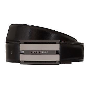 MIGUEL BELLIDO clasico belt belt men's belts leather belt Cognac/black 7708