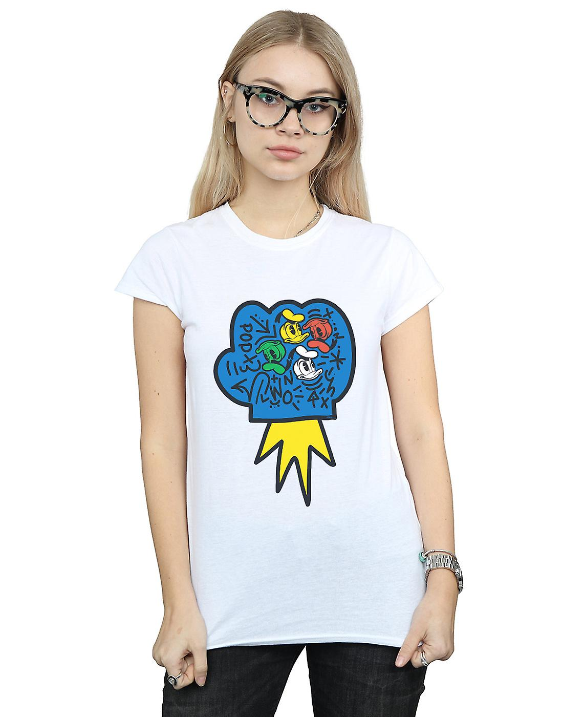 Disney Women's Donald Duck Pop Fist T-Shirt
