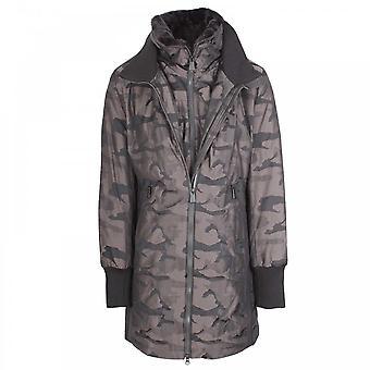 Creenstone Grey Camoflauge Print Long Coat