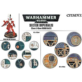 Games Workshop Warhammer 40.000 Sector Imperialis venti basi rotondo 25 / 40mm