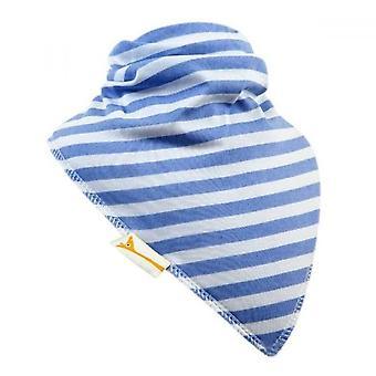 Weiß & hellblau Streifen xxl bandana lätzchen