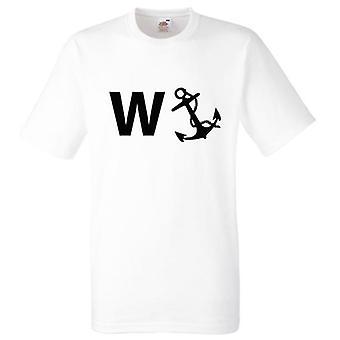 Wanker الأبيض المرساة التي شيرت