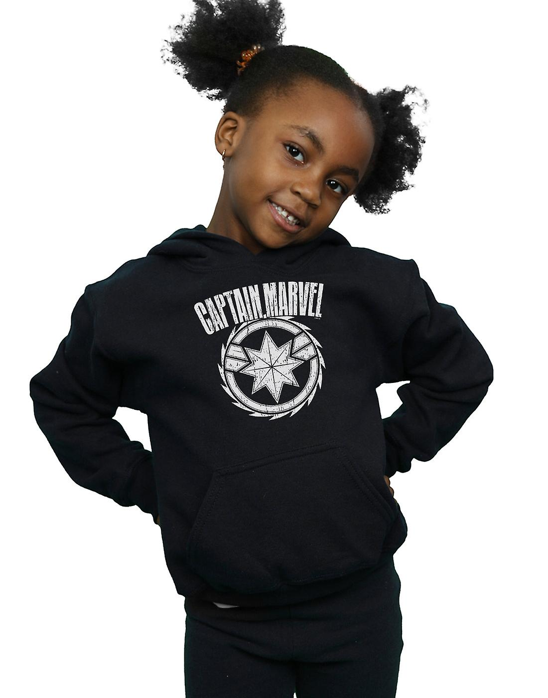 Marvel Girls Captain Marvel Blade Emblem Hoodie